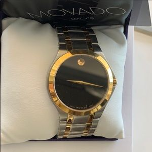 NWT Movado Swiss 2-tone PVD stainless Macy's watch